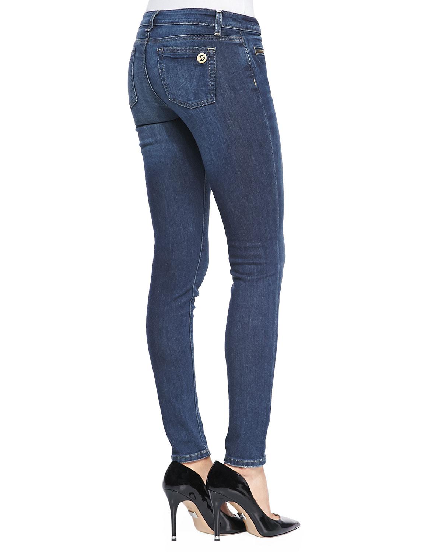 6baa87cd2448e Lyst - MICHAEL Michael Kors Zip-pocket Skinny Jeans in Blue