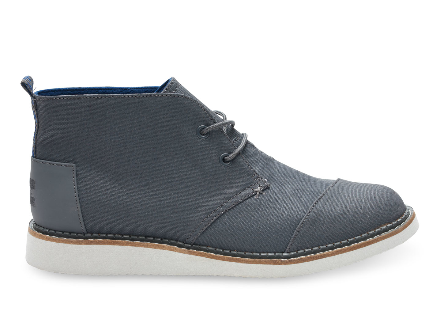 Toms Castlerock Grey Coated Canvas Men's Mateo Chukka Boots in ...
