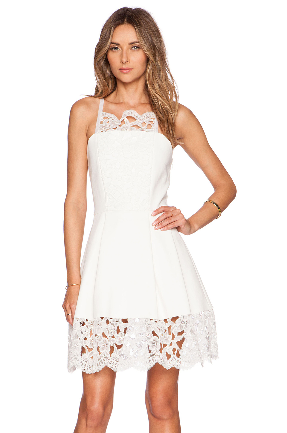 Lyst Alexis Cole Embroidered Lace Dress In White