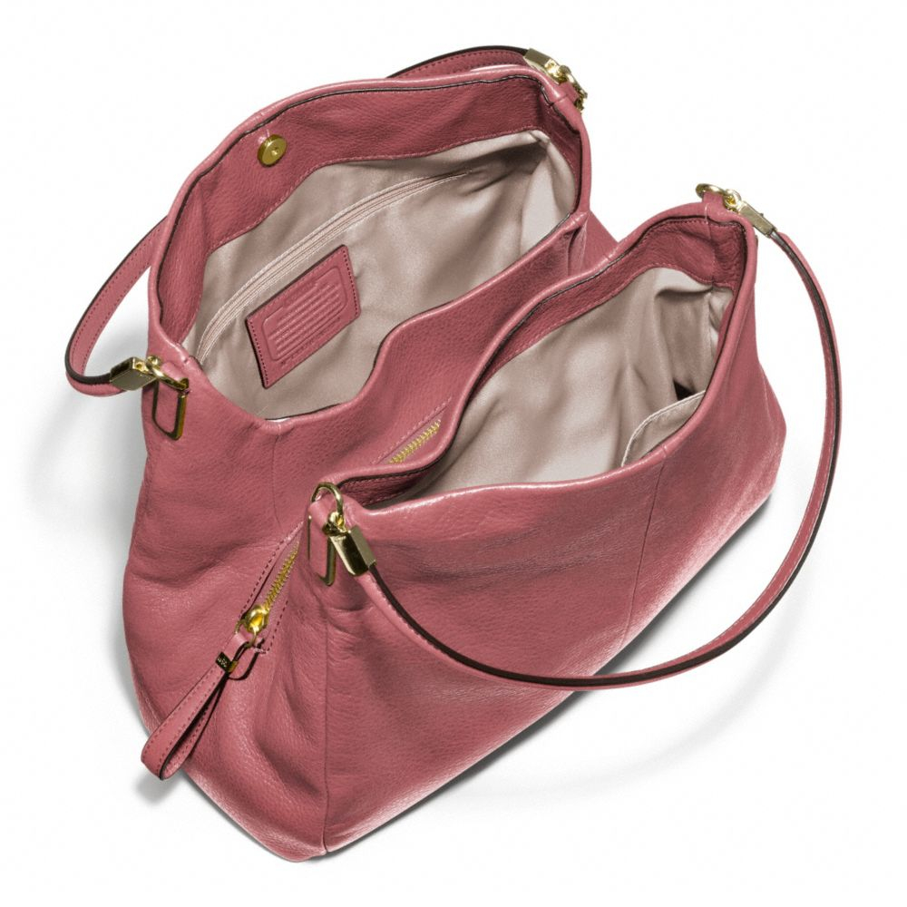c8e50a5a6a08 ... usa lyst coach madison small phoebe shoulder bag in leather in pink  9a123 d2dd9