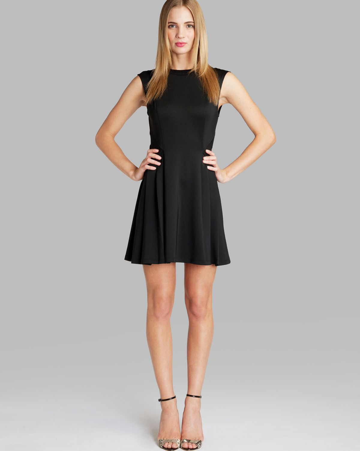 10e37c08efbbd8 Lyst - Ted Baker Dress Nistee Skater in Black