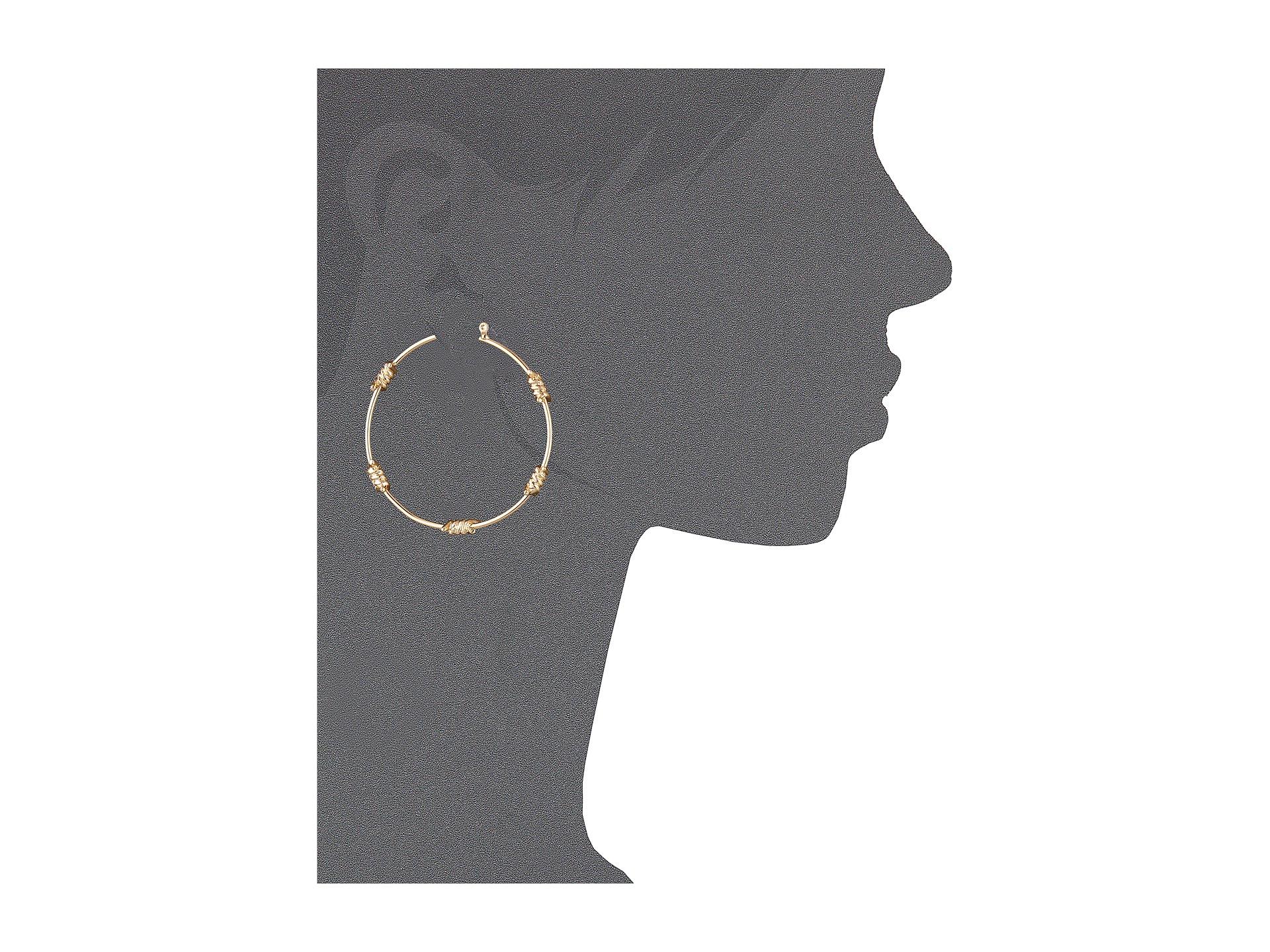Lyst - Guess Barb Wire Hoop Earrings in Metallic