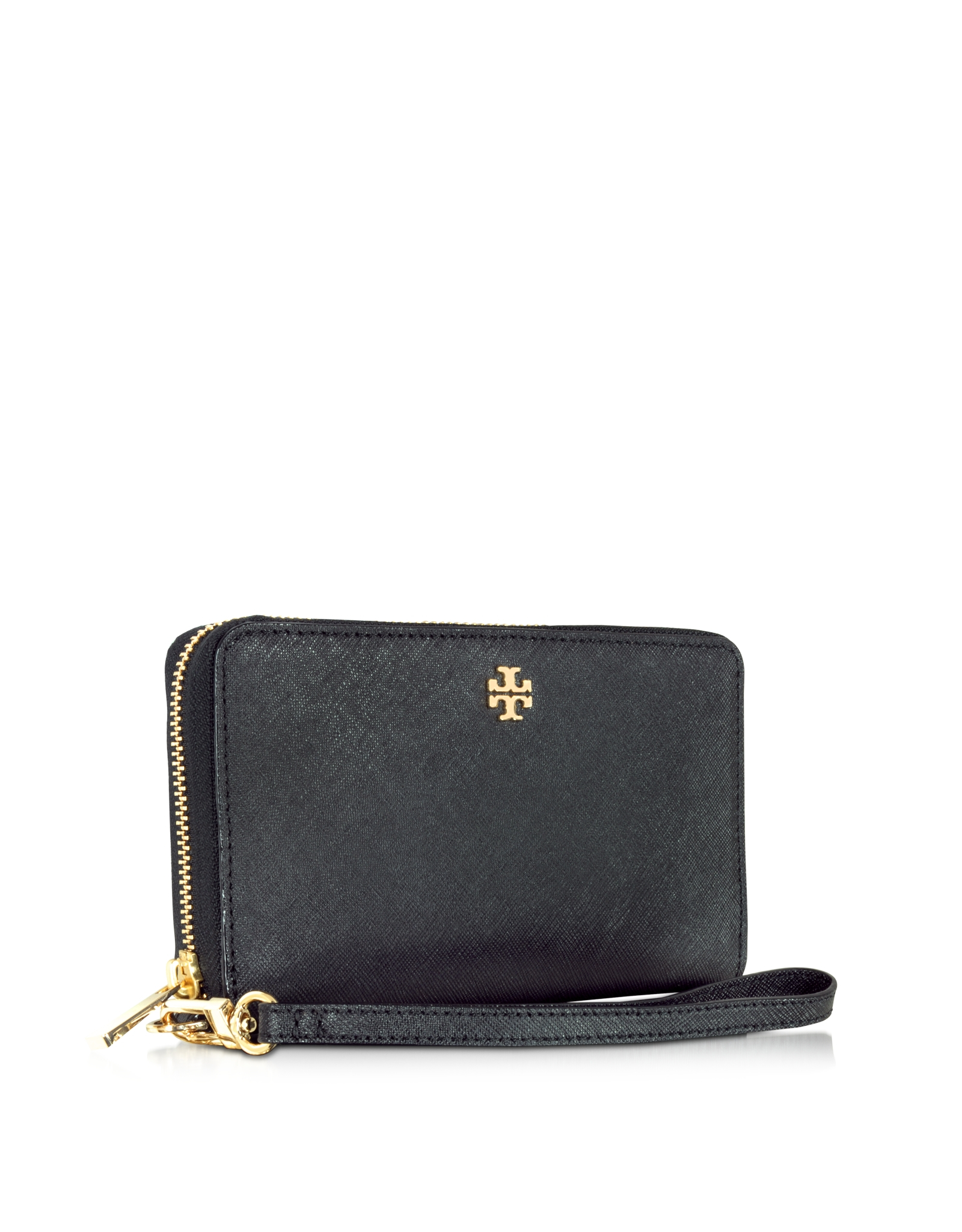366c22d3d47 Tory Burch Robinson Zip-around Smartphone Wristlet in Black - Lyst