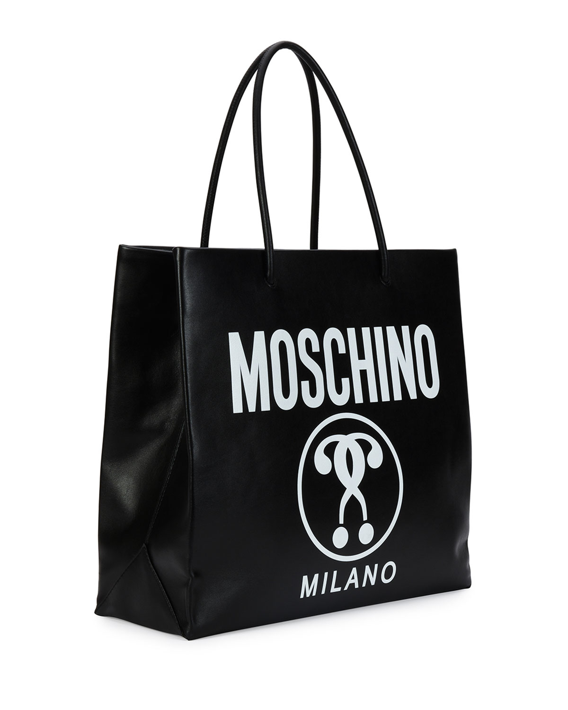 logo print clutch - Black Moschino VHX2wzO