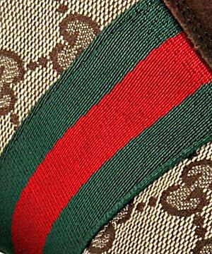 gucci beige gg canvas web stripe sneakers in brown for men