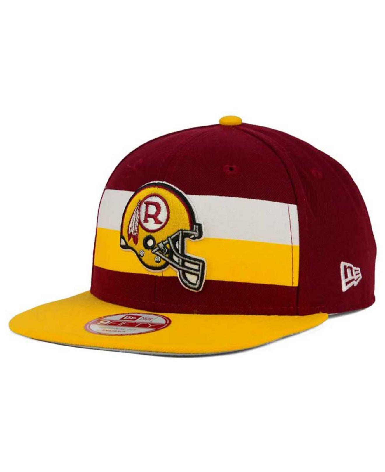 Lyst - KTZ Washington Redskins Retro Striped 9fifty Snapback Cap in ... 085b412d6