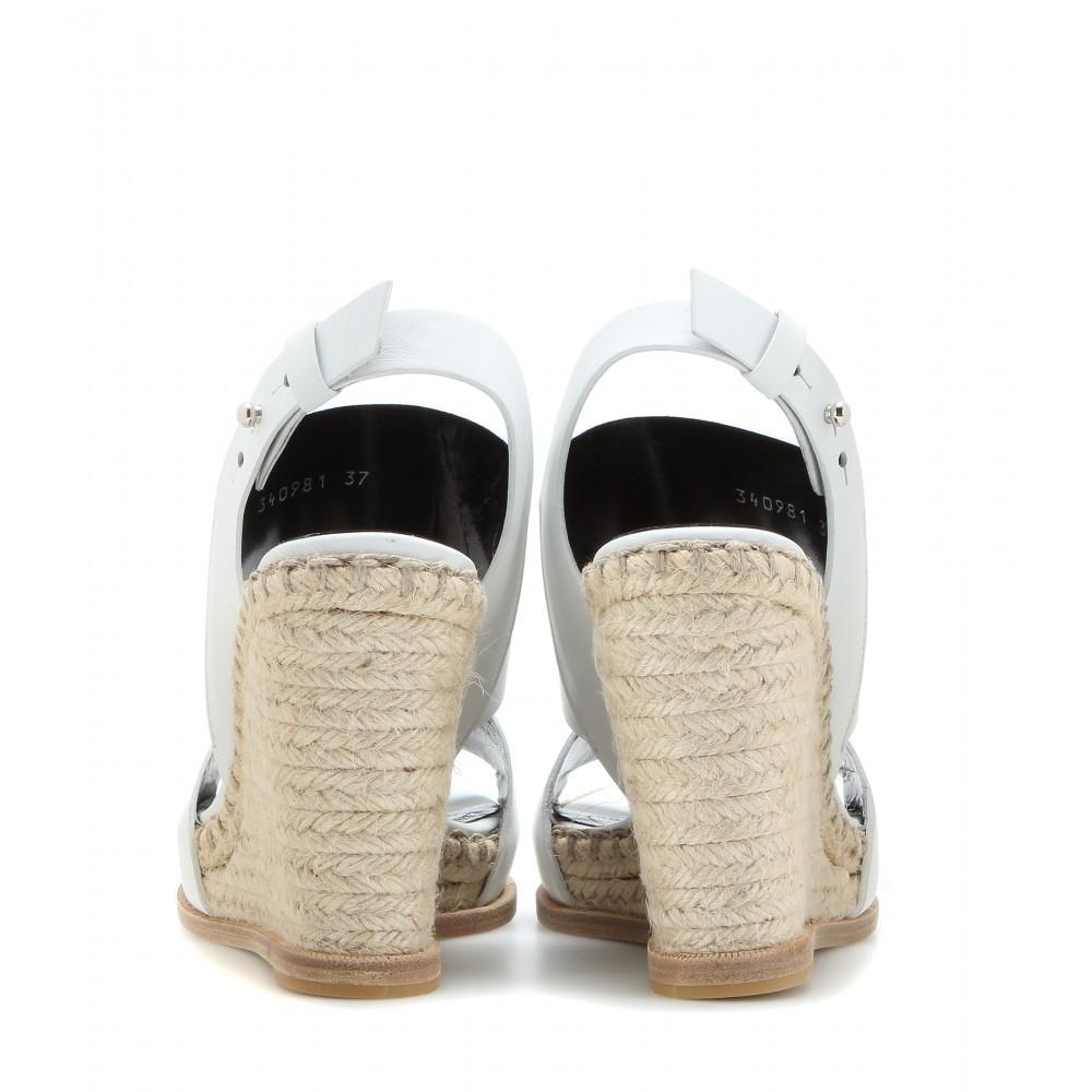 c897dc4a41c Balenciaga Leather Espadrille Slides