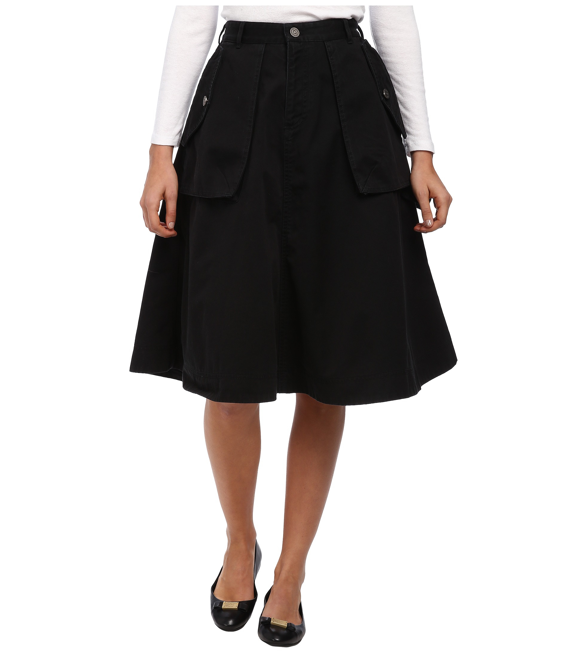 New Womens Black, Semisheer Skirt From Marc Jacobs Crafted From Tulle And Cut For A Midi Length, The Skirt Comprises A Slipon Design With A Selftie, Neon Belt To The Waist The Net Skirt Is Complete With A Detachable, Silk Underskirt Used To