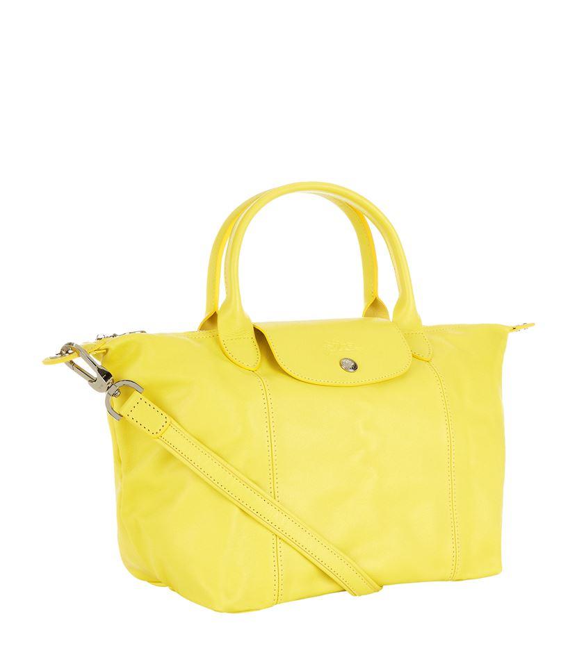 429fbdf84676 Gallery. Previously sold at  Harrods · Women s Yellow Handbags Women s Longchamp  Le Pliage ...