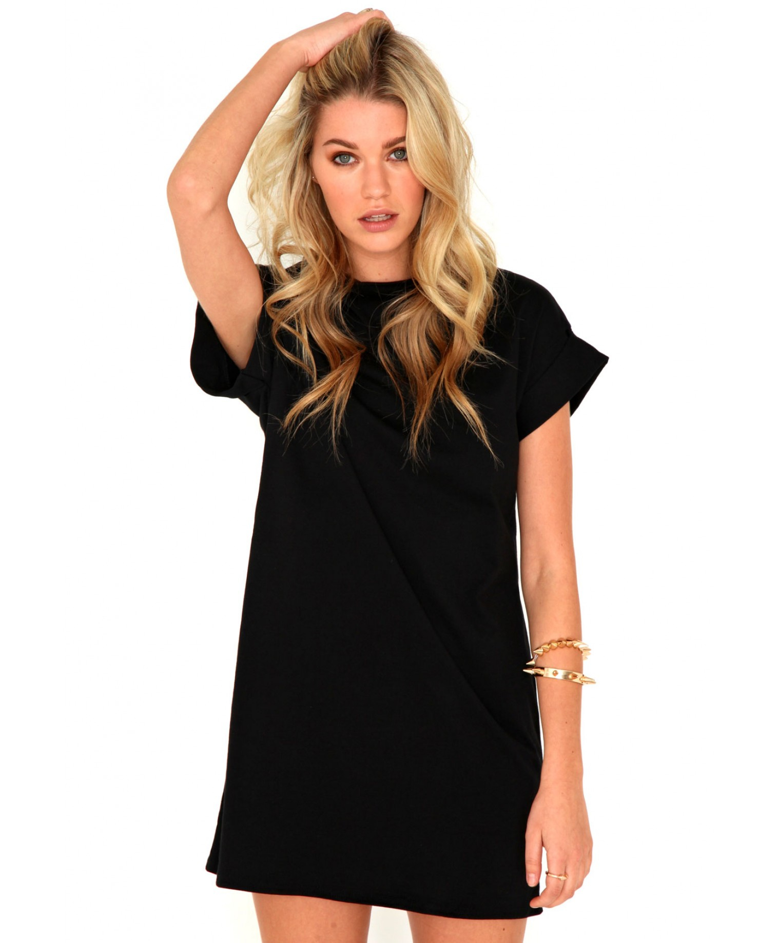 T-Shirt Dresses. T-Shirt Dresses. Styles Found. If it's effortless style you want to go for then our tshirt dresses are exactly what your wardrobe has been looking for. From printed styles to slogan tees, we've got tshirt dresses in basically every style to suit whatever the occasion. Black Oversized Skeleton T Shirt Dress $