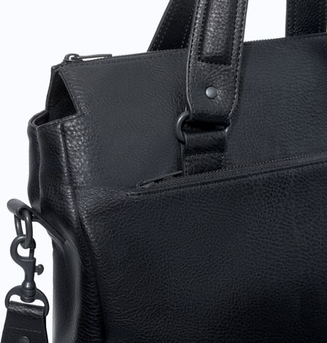 Zara Shopper Bag Black Zara Soft Shopper in Black