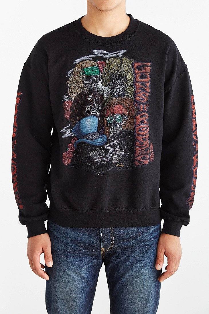 Urban outfitters Guns 'N' Roses Crew Neck Sweatshirt in Black for ...