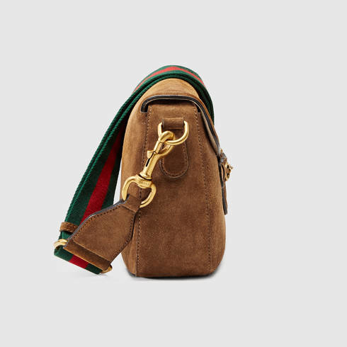 ce46f2cee50 Lyst - Gucci Lady Web Suede Shoulder Bag in Brown for Men