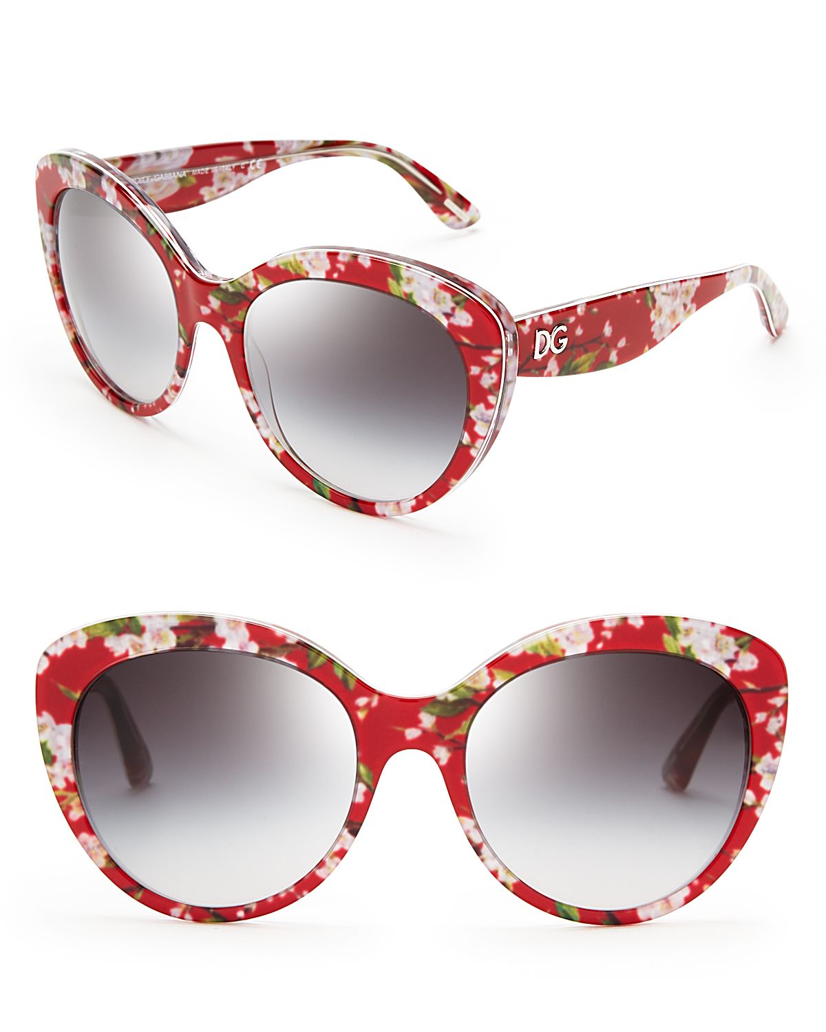 Dolce   Gabbana Dolce Gabbana Floral Cat Eye Sunglasses in Red - Lyst a898081e4d