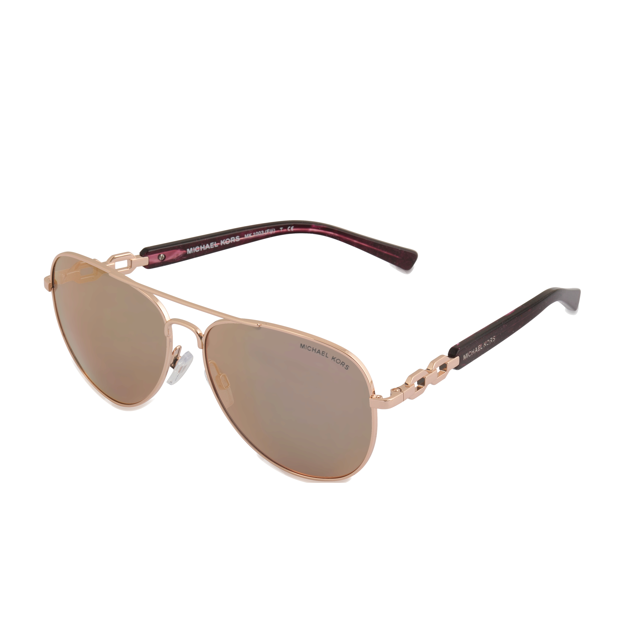 Michael Kors Gold Frame Sunglasses : Michael michael kors Fiji Rose Gold Sunglasses Mk1003 in ...