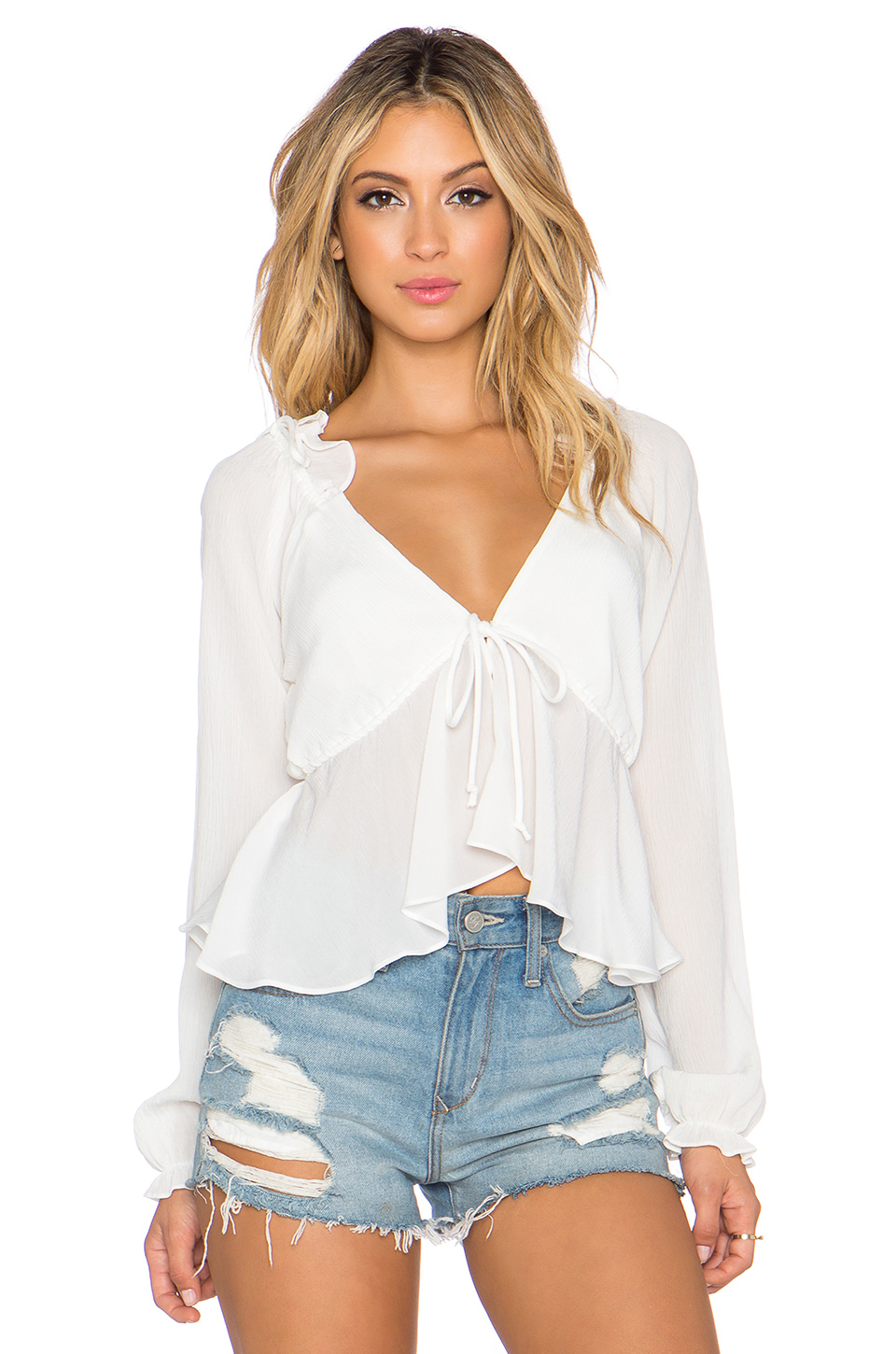 Stone Cold Fox Chaos Blouse In White Lyst