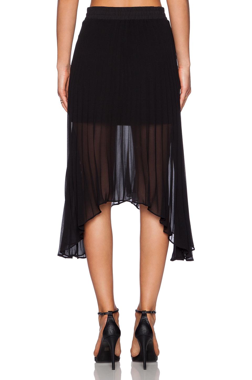 sanctuary pleated midi skirt in black lyst