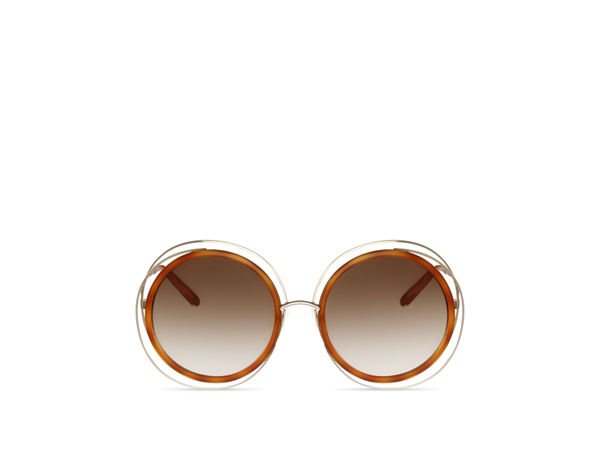 Chloe Carlina Sunglasses  chloé carlina oversized round sunglasses 58mm in metallic lyst