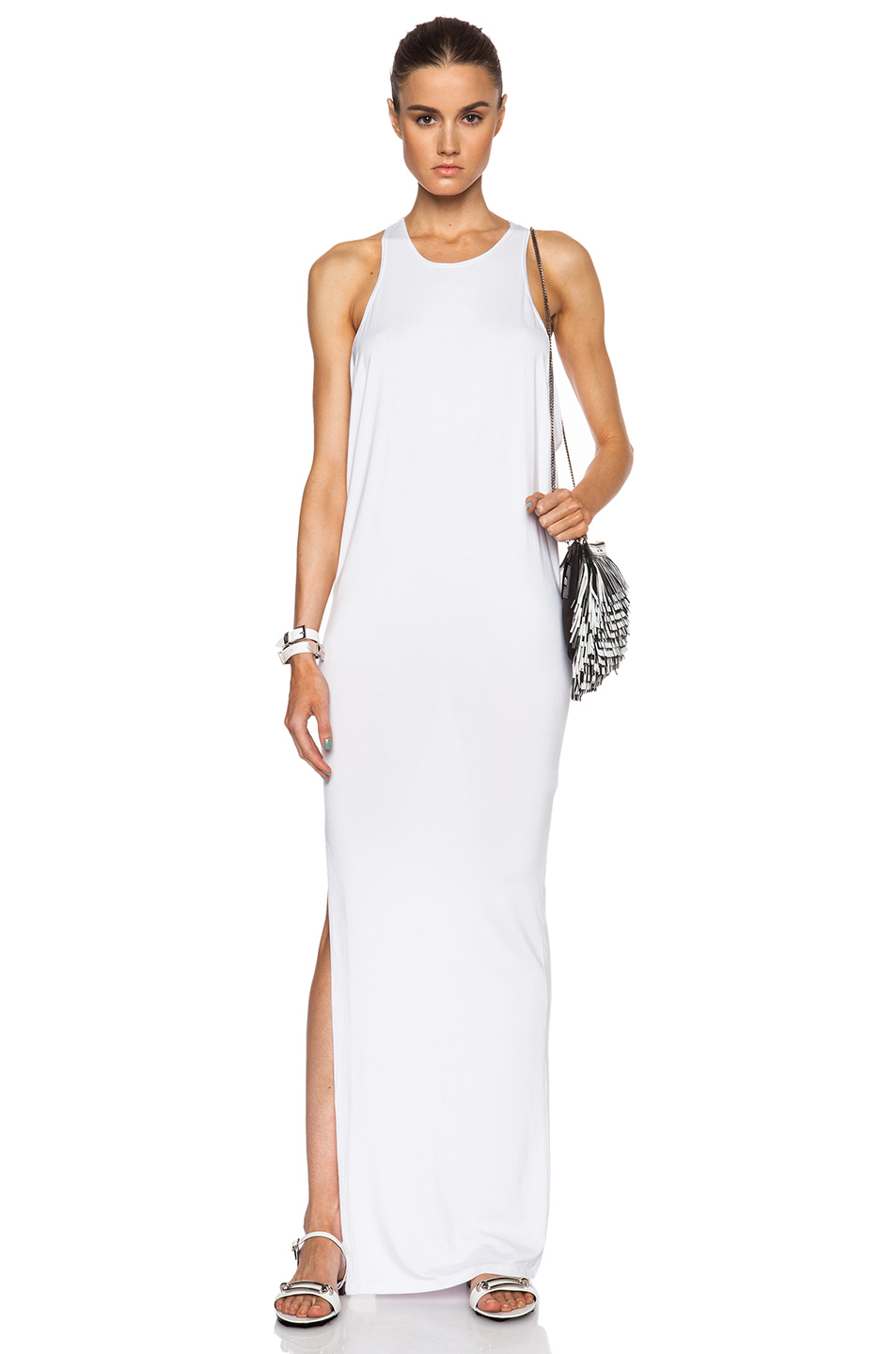 04bfdead64 Mikoh Swimwear High Neck Maxi Dress With Side Slit in White - Lyst