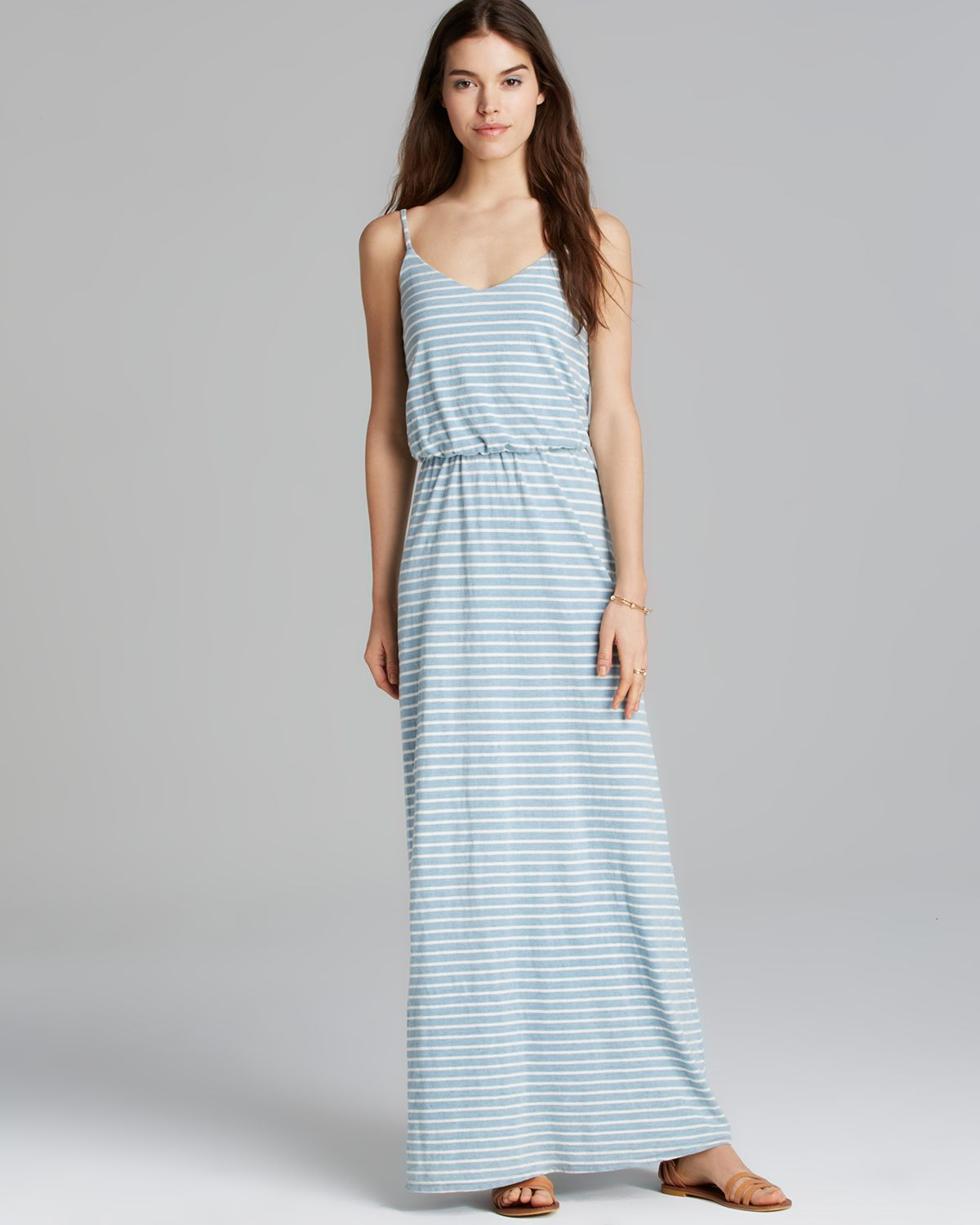 Splendid Maxi Dress Venice Stripe in Blue | Lyst