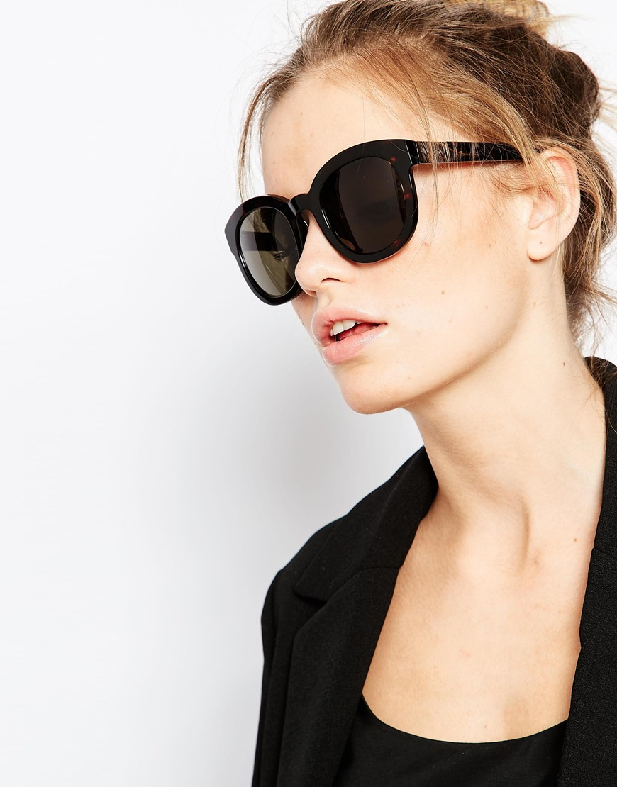 a002ed79c0 Vivienne westwood Anglomania Round Sunglasses in Black