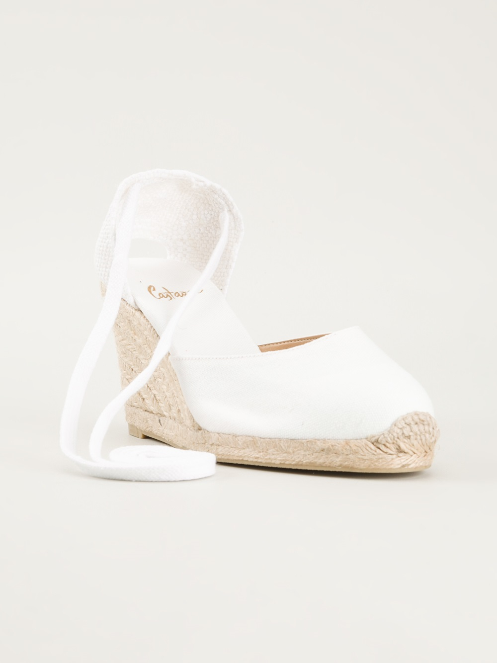 Lyst Castaner Wedge Espadrilles In White