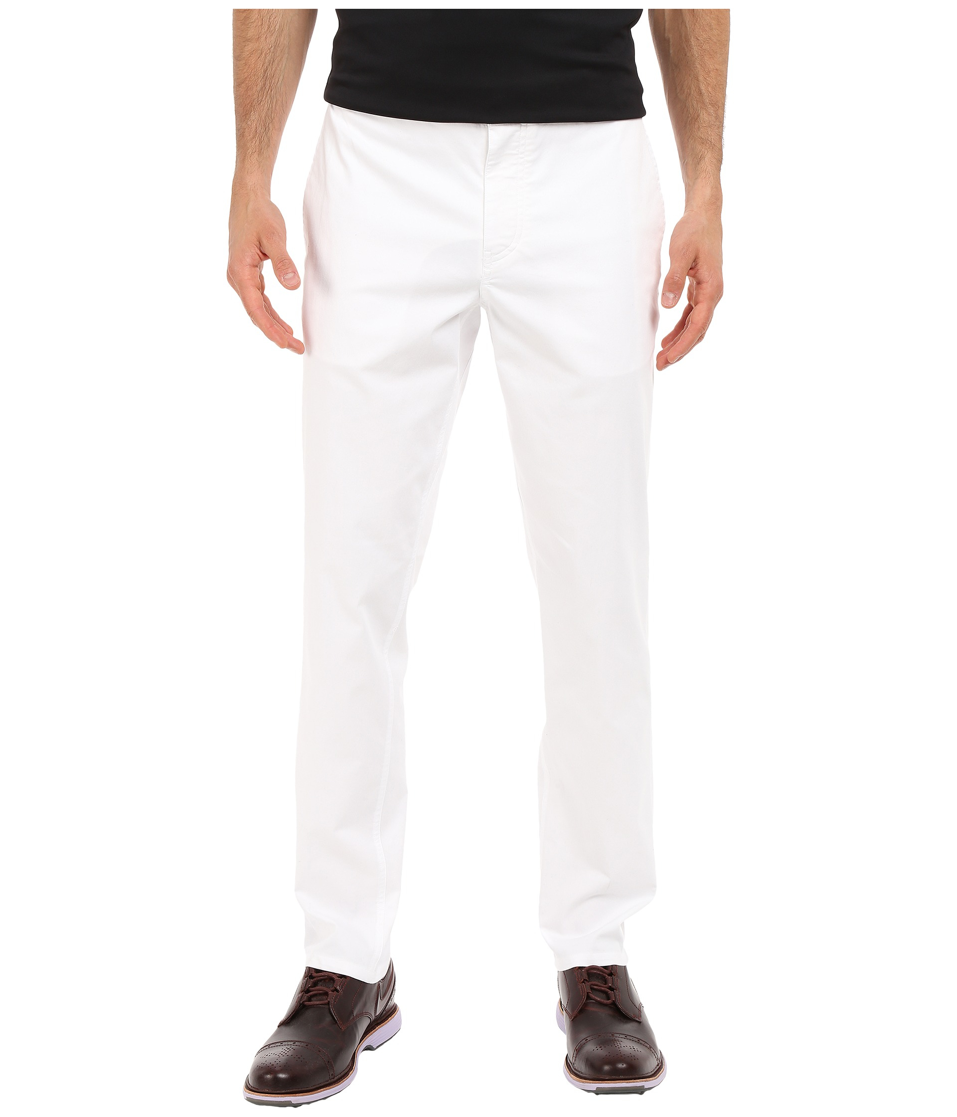 Nike modern fit washed pants in white for men lyst