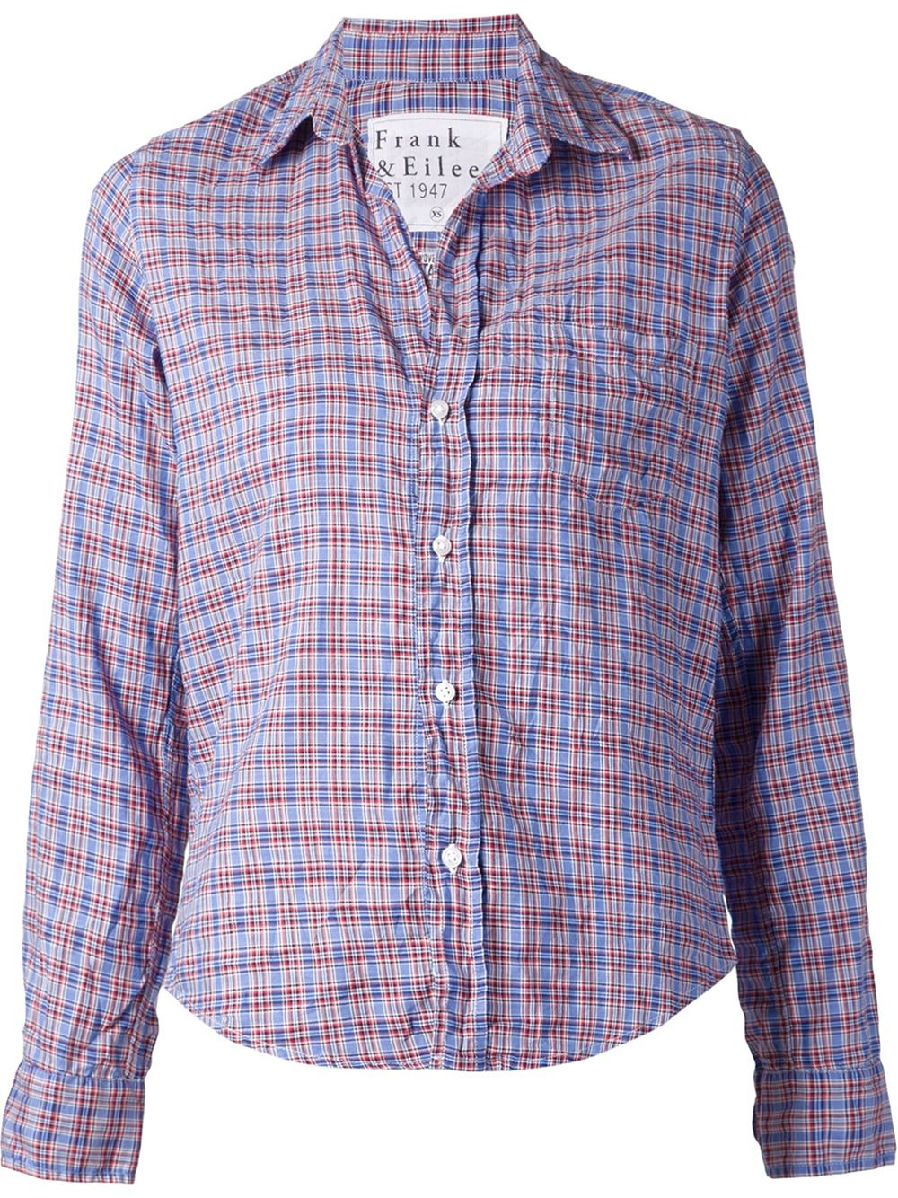 Frank Eileen Checked Shirt In Blue Lyst