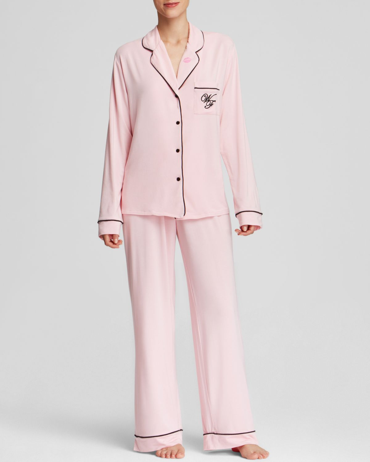 Lyst - Wildfox Love Is Everything Classic Pajama Set in Pink 5819ebf82