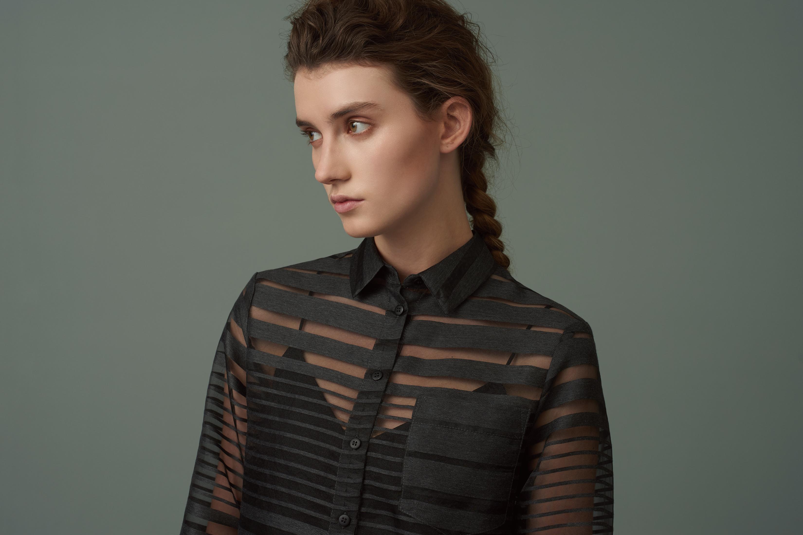 Finery london Carlisle Sheer Stripe Shirt Dress in Black   Lyst