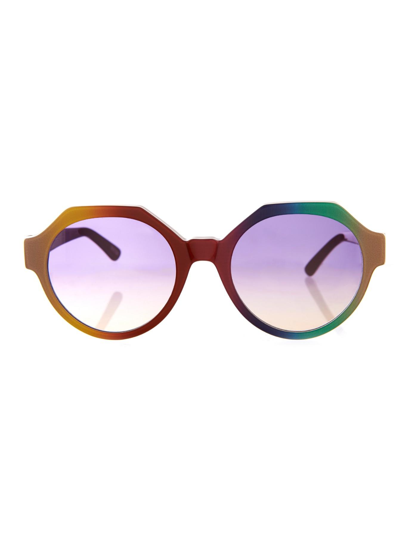 Lyst - Marco De Vincenzo Rainbow Geometric-frame Sunglasses