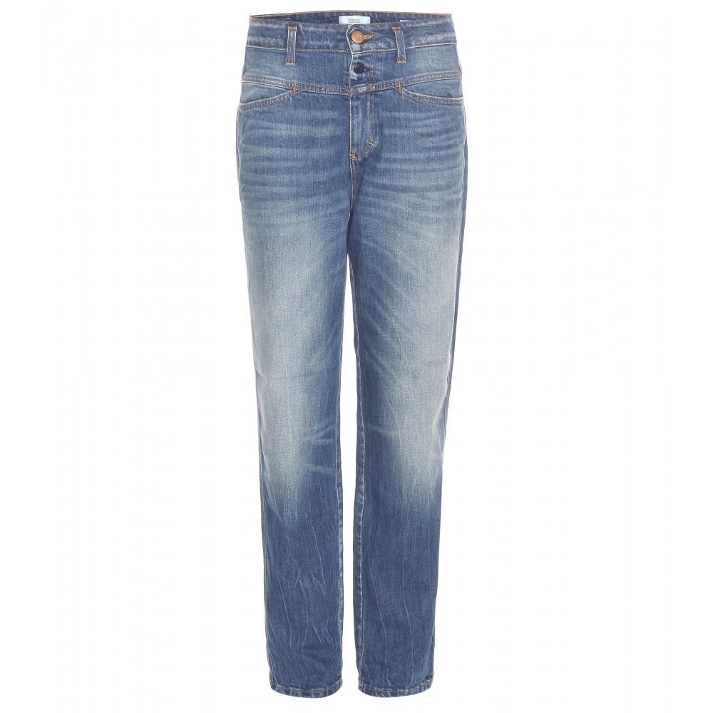 Closed High Waist Skinny Jeans in Blue