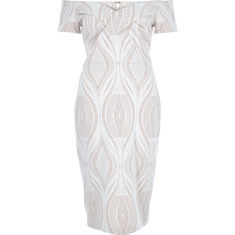 Light pink and white lace dress