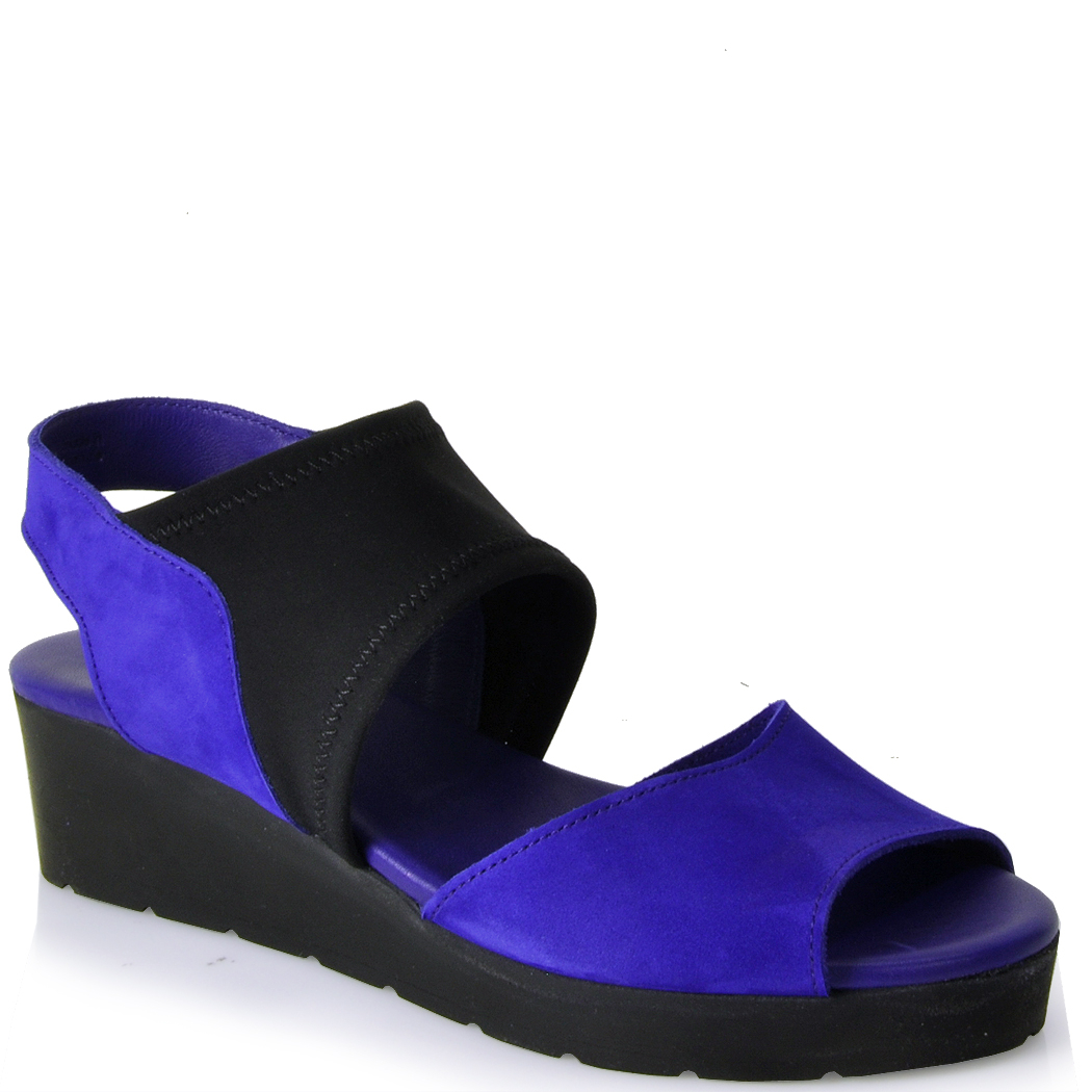 Arche Wedge Sandal In Blue Lyst