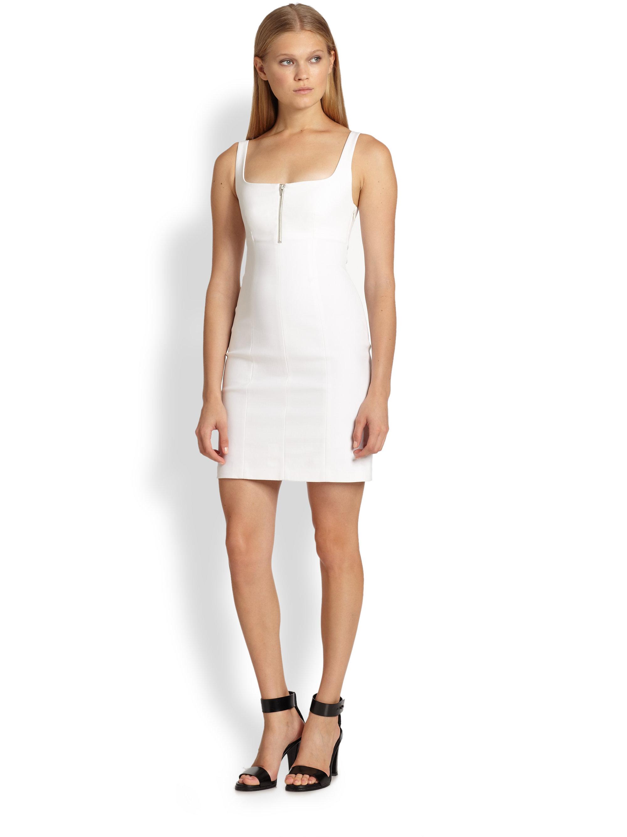 T by alexander wang zip front stretch jersey dress in for Alexander wang wedding dresses