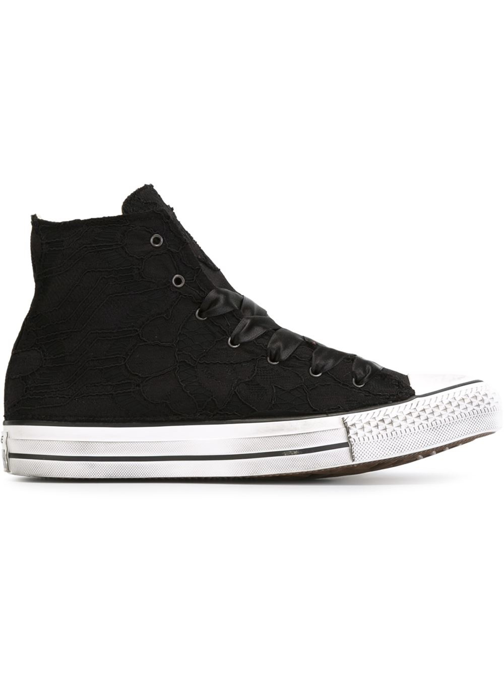 Lyst Converse Satin Lace High Top Sneakers In Black For Men