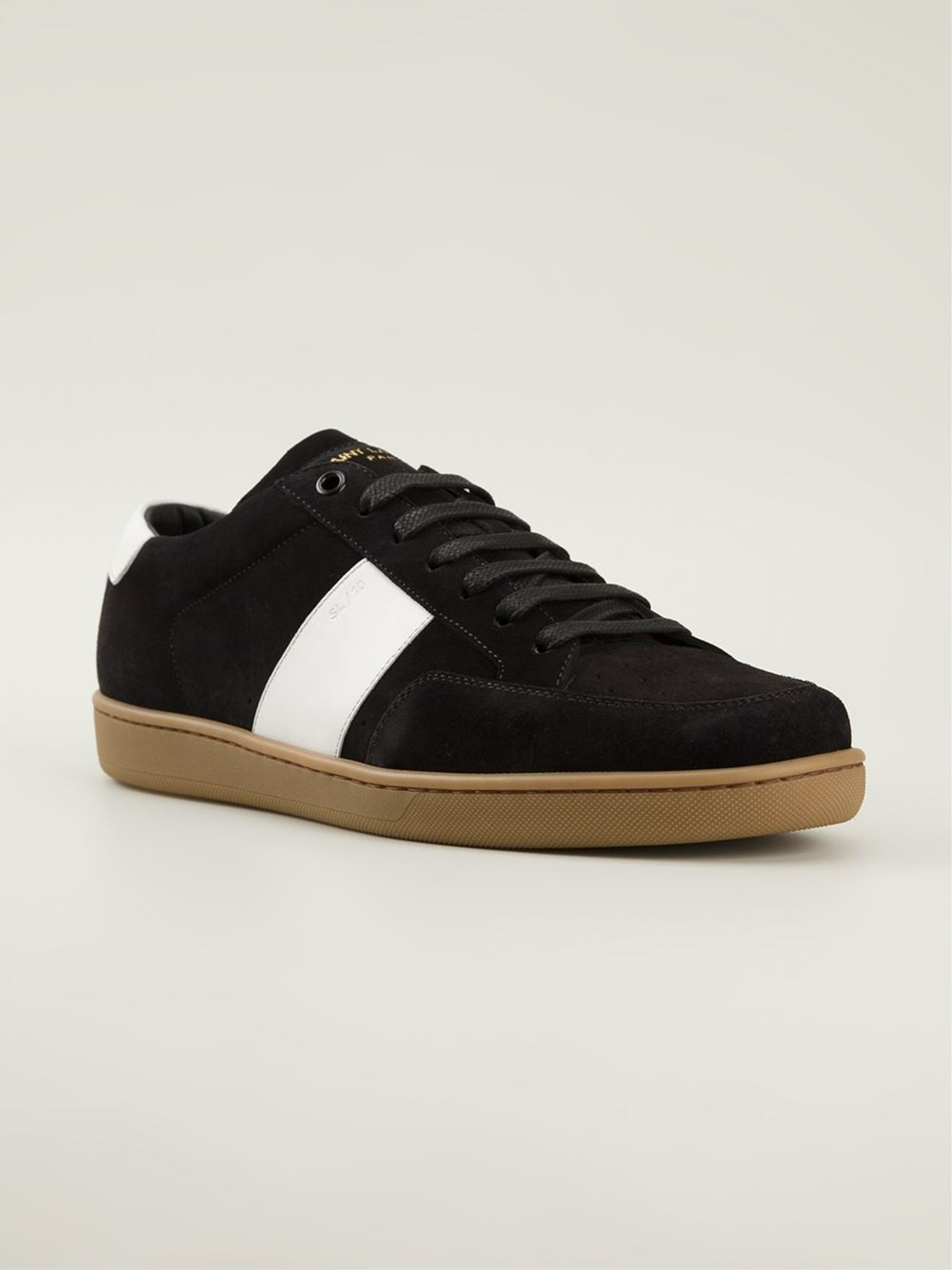 saint laurent low sneakers in black for men lyst. Black Bedroom Furniture Sets. Home Design Ideas