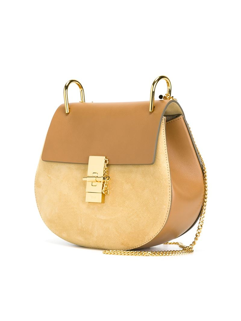 Chlo¨¦ \u0026#39;drew\u0026#39; Shoulder Bag in Beige (NUDE \u0026amp; NEUTRALS) | Lyst