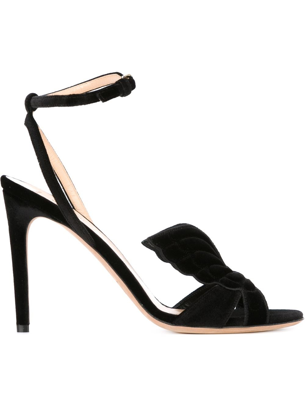 Valentino Black Suede Cruel Sandals