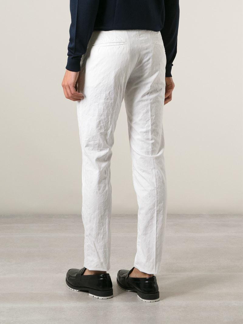Pantalon Slim Fit - Incotex Blanc 8OZJojQtU