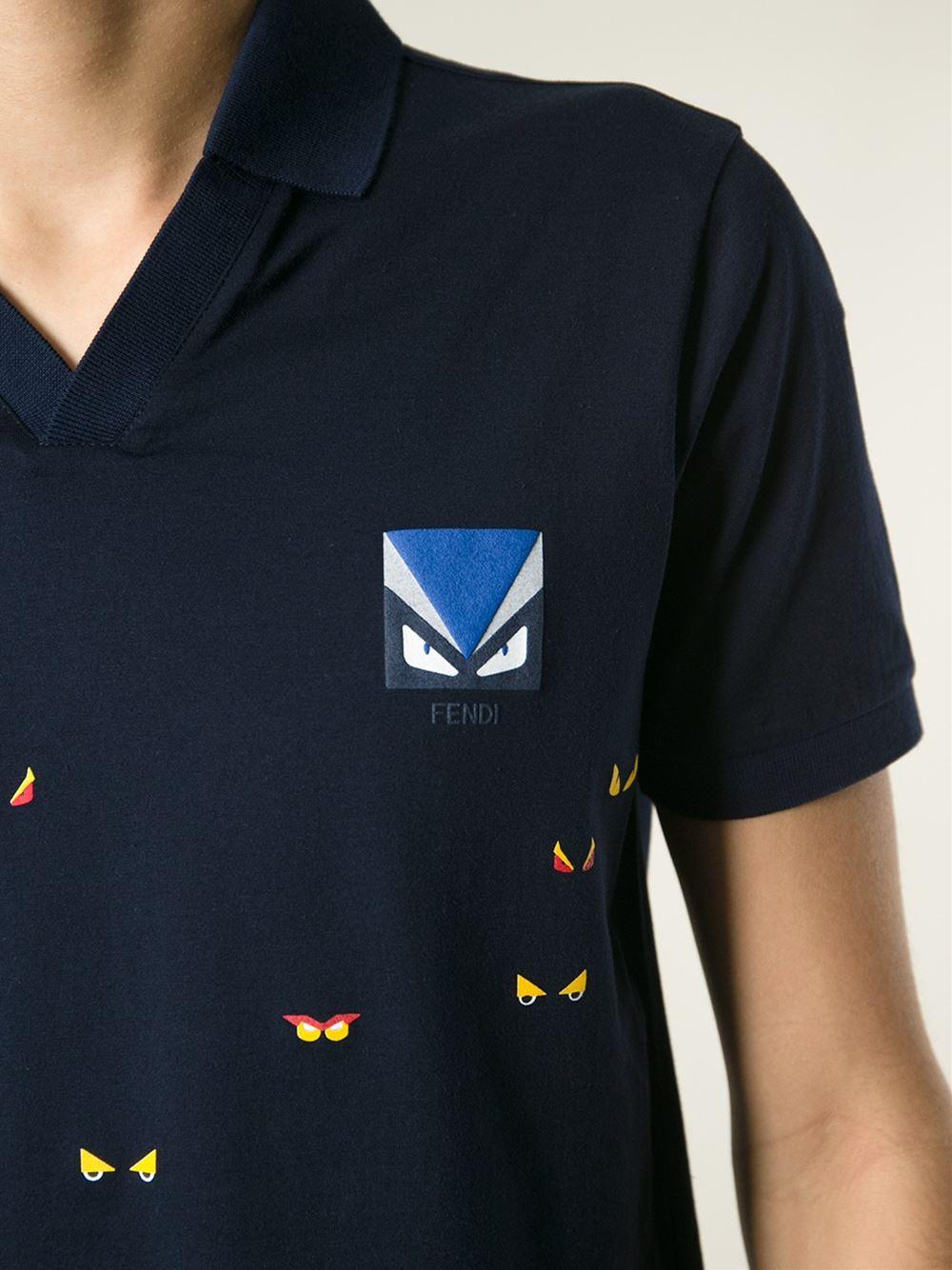 f64b77a18 Fendi Bug Print T-Shirt in Blue for Men - Lyst