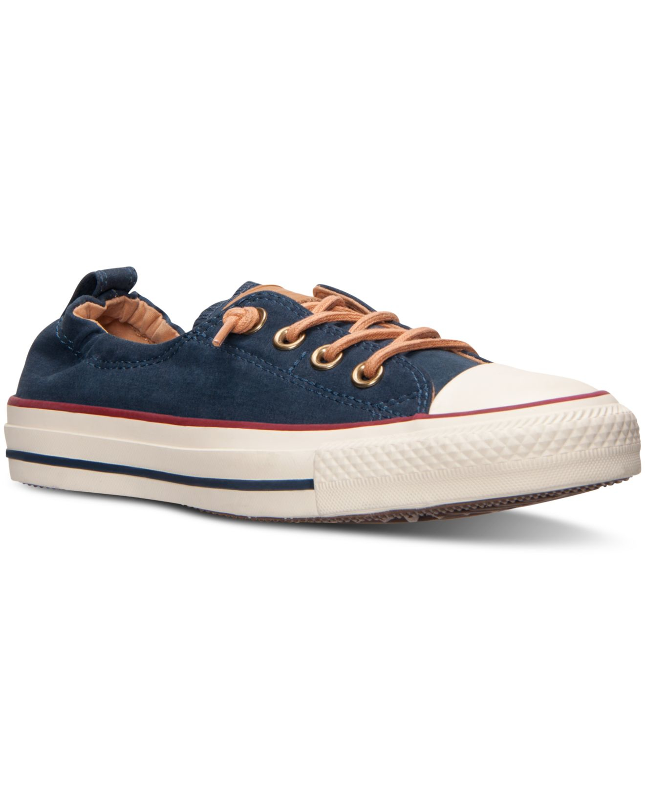 Lyst - Converse Women s Chuck Taylor Shoreline Peached Canvas Casual ... c5aab6721