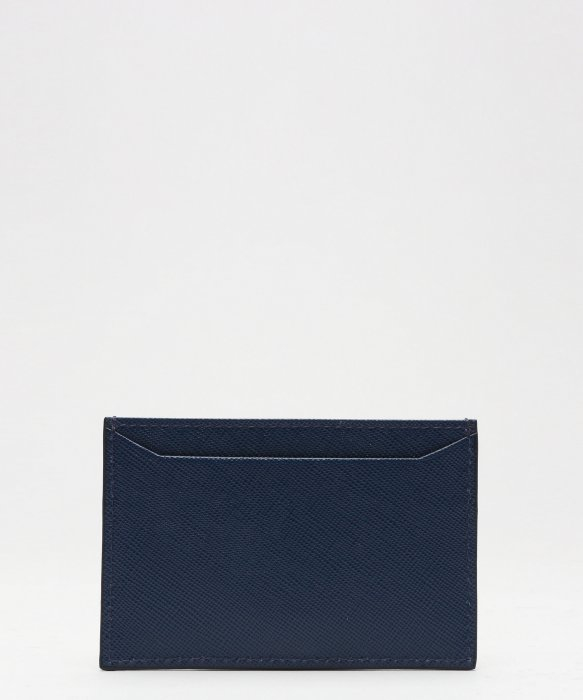 prada saffiano vernice wallet - Prada Bluette Saffiano Leather Card Holder in Blue (navy) | Lyst