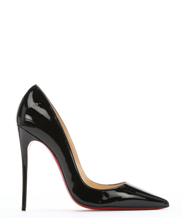christian louboutin black patent so kate