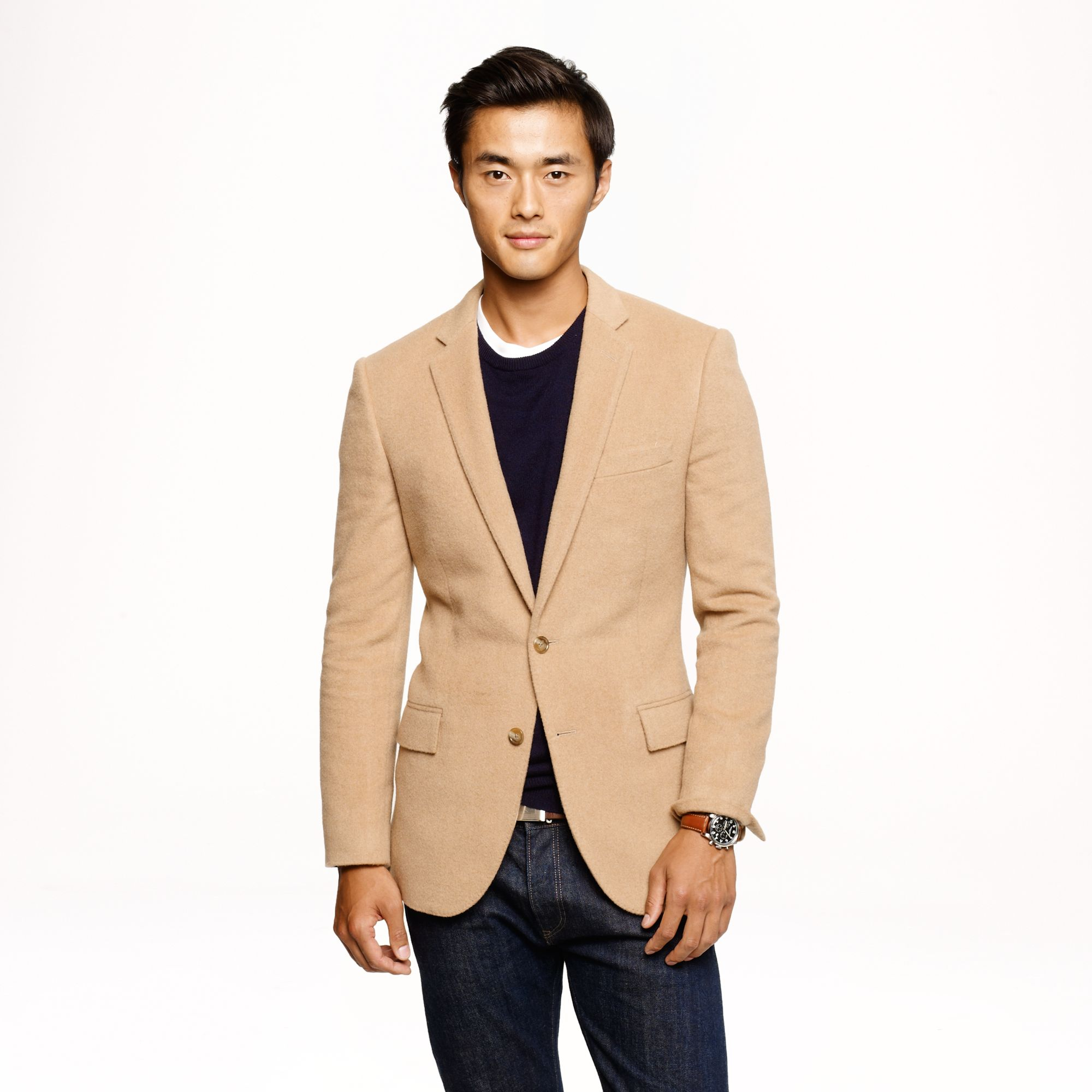 J Crew Ludlow Sportcoat In English Camel Hair In Beige For