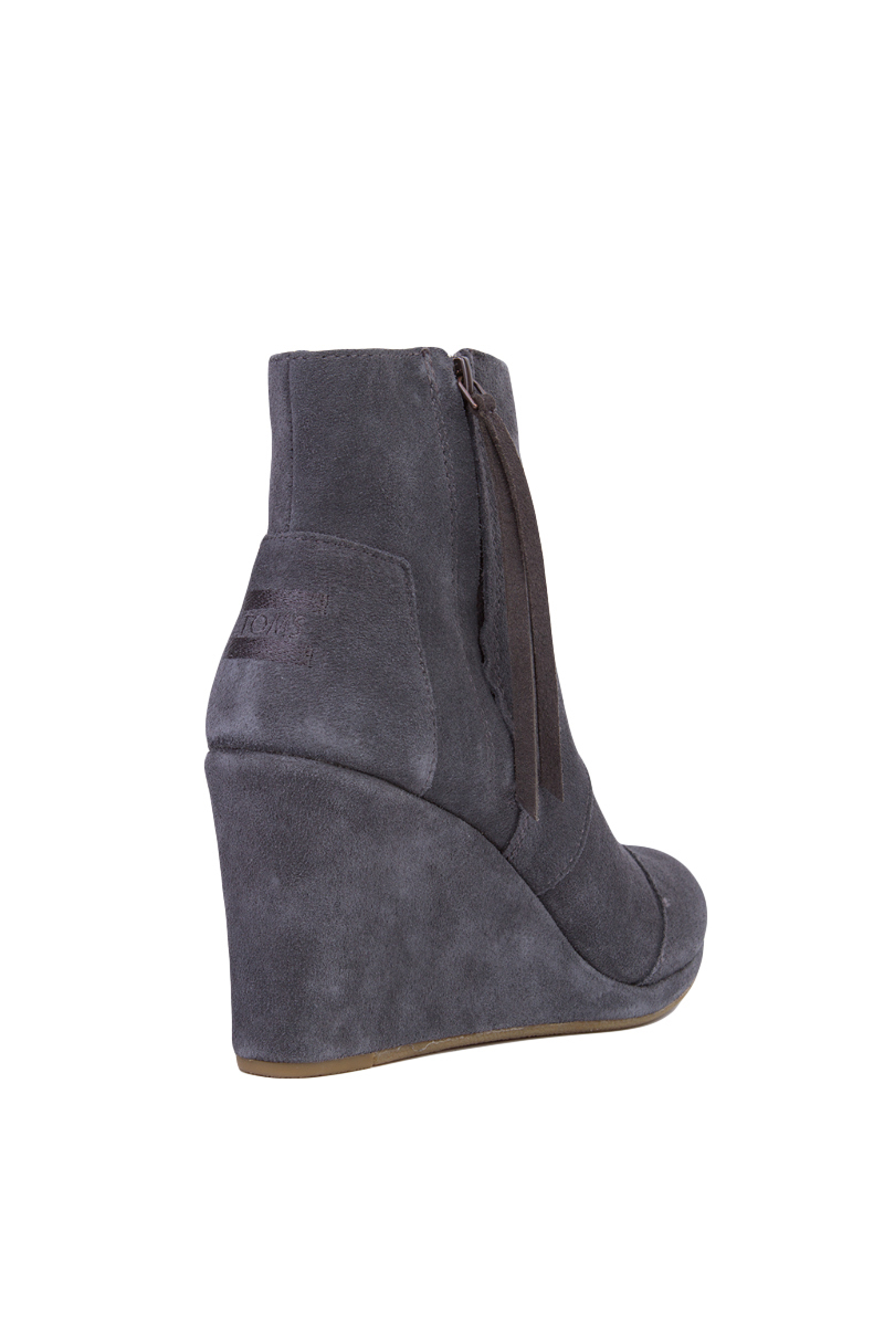 47b3df5b2e0 Lyst - TOMS Women s Desert Wedge High Ankle Boots in Gray