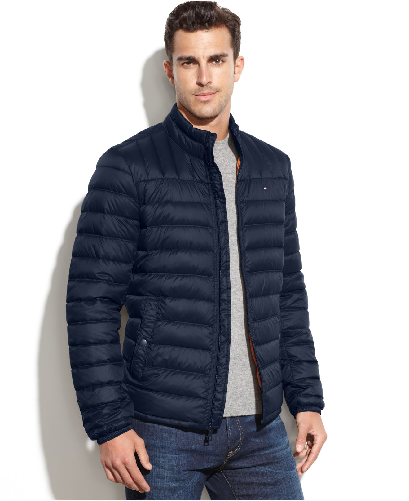 cf19b99ea6b Lyst - Tommy Hilfiger Big And Tall Down Quilted Packable Down Coat ...