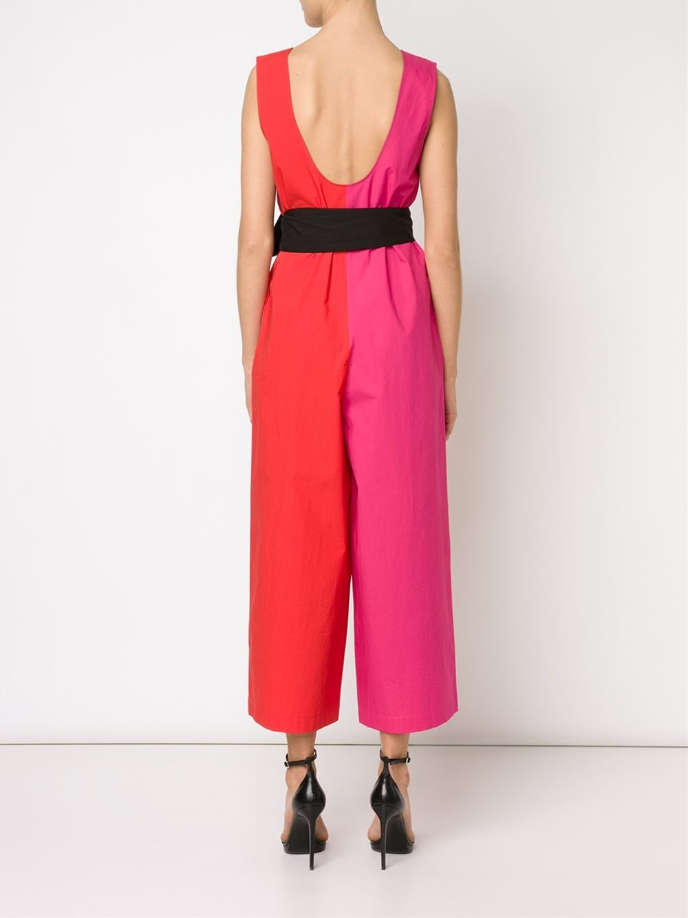 856bfe8ceb Lyst - Isa Arfen Colorblock Jumpsuit in Red