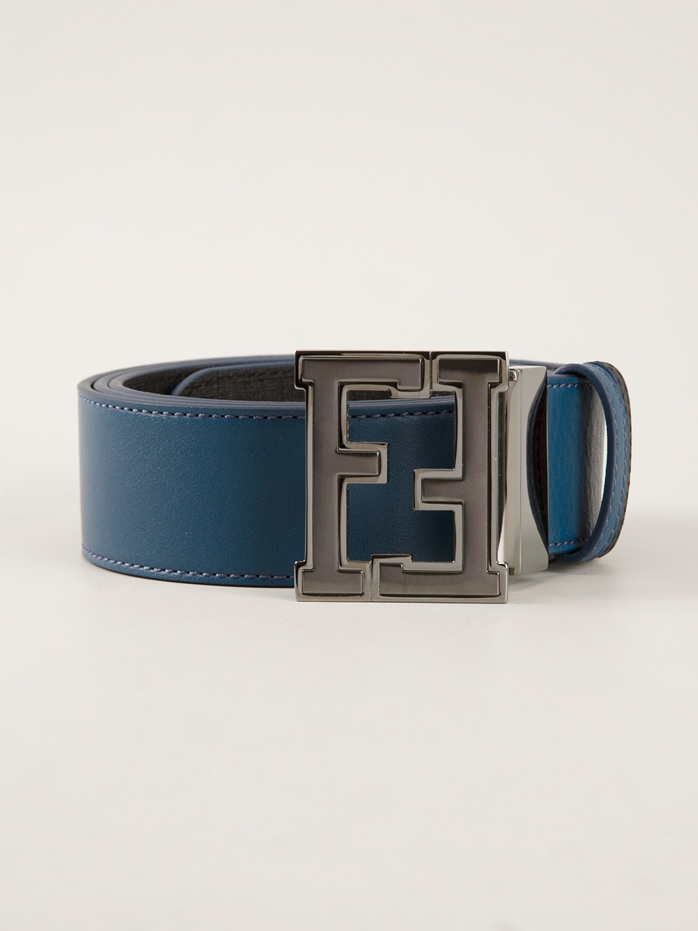 Fendi Branded Buckle Belt in Blue for Men | Lyst