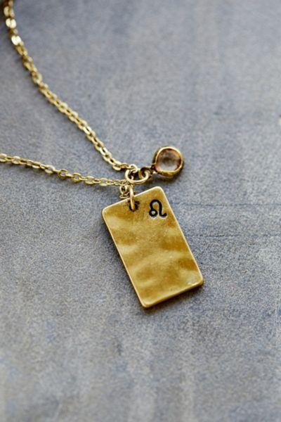 Urban outfitters Stamped Zodiac Necklace in Metallic | Lyst